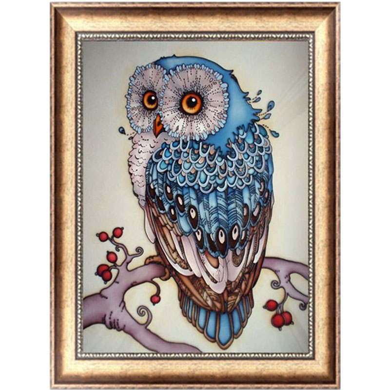 Diy 5d Diamond Painting Painting Owl Animal Embroidery
