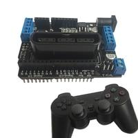 Двигатель щит салона автомобиля Двигатель Drive плата поддерживает Беспроводной Дистанционное управление из PS2 ручка