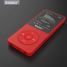 SAGO Original English version Ultrathin Stereo Speaker MP3 Player with 8GB storage Mini Music Player can play 80h (suport 32G)