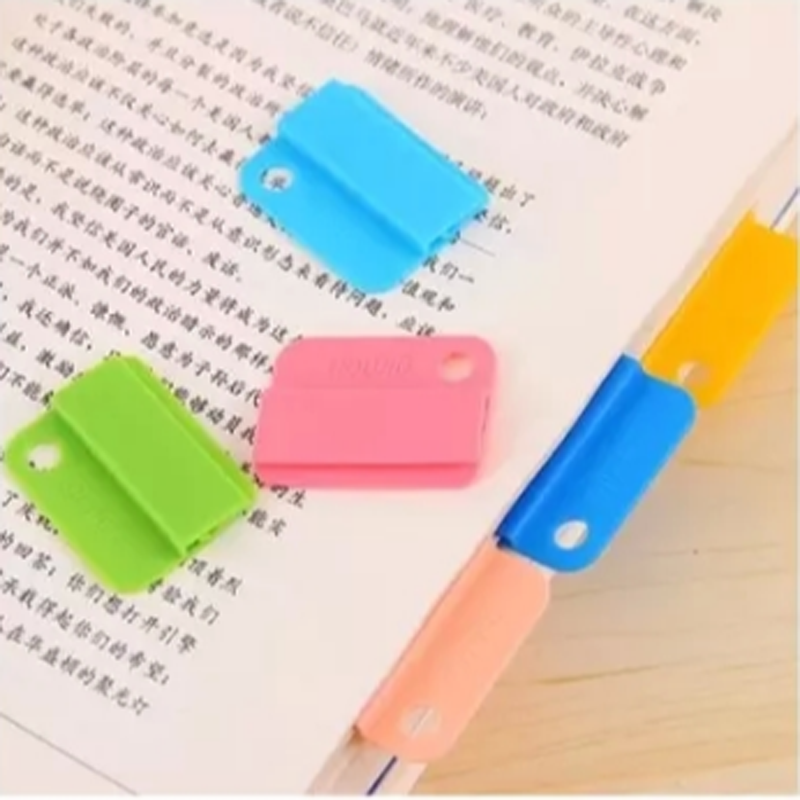 6 Pcs/set Lovely Rainbow Color Index Touch Folder Clips Index Separators for Notebook School Bookmark Office image