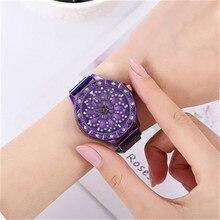New Fashion Watches For Women Rose Gold Time To Turn The Watch Starry Quartz Watch Geometric Casual Women Quartz Wristwatch muje