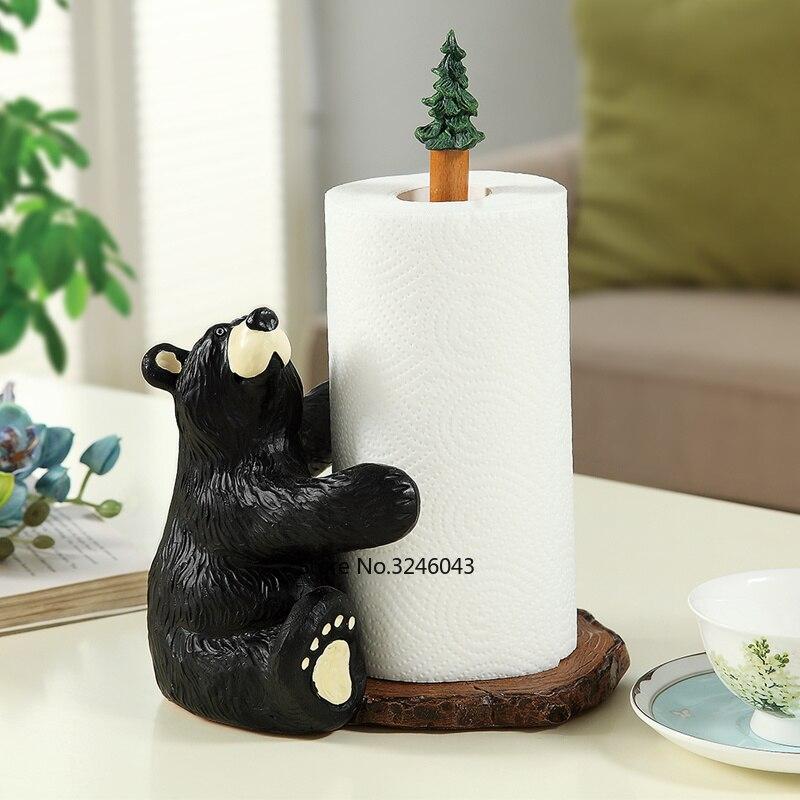 Paper Towel Holder Cute Bear Roll