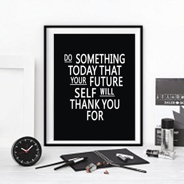 Inspiration quote canvas art print painting poster wall pictures for room home decoration colorful
