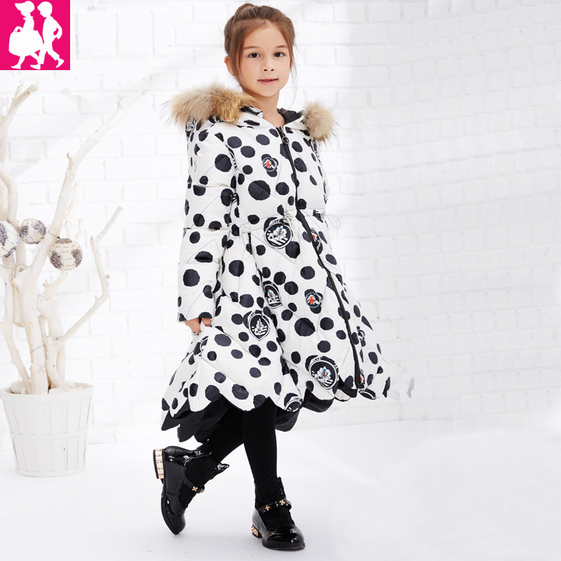 2018 Children Winter Slim Down Jacket Girls Long Sections Thick Down Jacket Kids Girls Fur Hooded Duck Down Coats Outwear Parkas down winter jacket for girls thickening long coats big children s clothing 2017 girl s jacket outwear 5 14 year