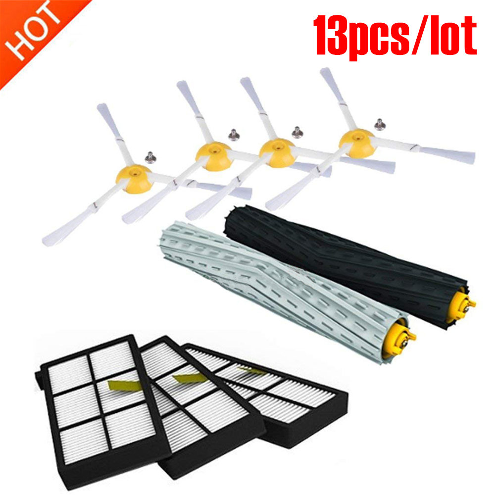 13pcs For IRobot Roomba Parts Kit Series 800 860 865 866 870 871 880 885 886 890 900 960 966 980 - Brushes And Filters