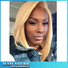 blonde Short Bob Wig Synthetic Lace Front Wig With Heat Resistant Fiber Hair For African American Black Women