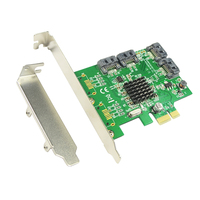 4 Port SATA3 0 6Gbps Expansion Card 88SE9215 Chipset PCI Express Controller SATA Cards