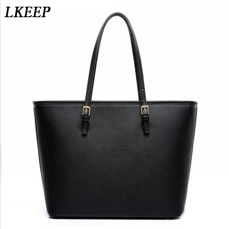 Bag Fashion Women Leather Handbag Brief Shoulder Bags Black White Large Capacity Luxury Handbags Tote Bags Designer Bolsos