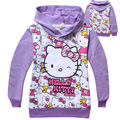 TM-P2, 5pcs/lot, Children girls hoodies, long sleeve cartoon pullover sweatshirts, hello kitty