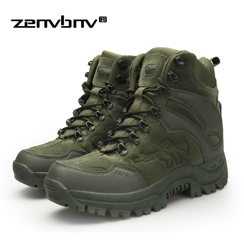 Winter/Autumn Army Men's Military Outdoor Desert Combat Tactic Mid-calf Boots Men Snow Tactical Hiking Boots Botas Hombre Zapats
