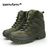 Winter/Autumn Army Men's Military Outdoor Desert Combat Tactic Mid calf Boots Men Snow Tactical Hiking Boots Botas Hombre Zapats