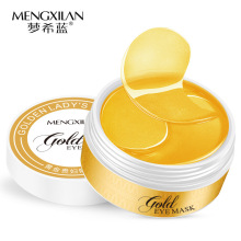 MENGXILAN 60piecs 24K Gold Eye Mask Collagen Sleep Mask Eye Patches For Eye Ageless Dark Circles Rem