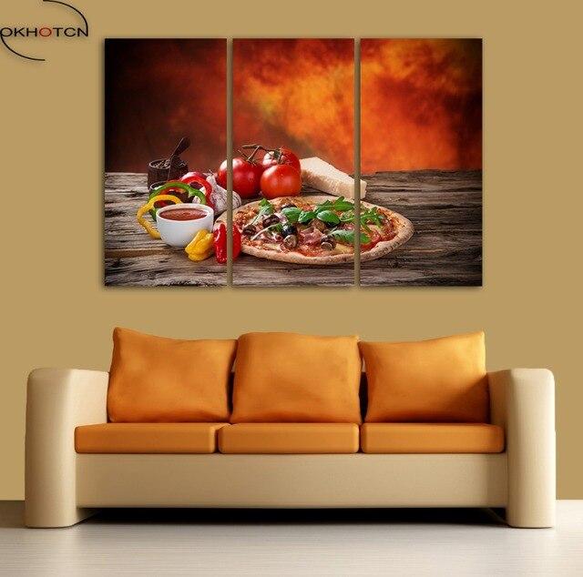 En Iyi Sebze Pizza Domates Cercevesiz Tuval Boyama Duvar Sanati Hd