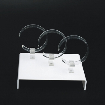 New Watch Display Rack Jewelry Holder Three Watches Acrylic Showcase Clear Stand Y4QB fashion acrylic hair clip jewelry showcase holder hairpin display show stand holder jewelry display stand rack new arrival