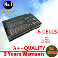 Venta al por mayor nueva blanco 6 células batería del ordenador portátil para Asus F8 F80 F80A F80H F80S F81 X61 X61W X88 X85 serie A32-F80 A32-F80A