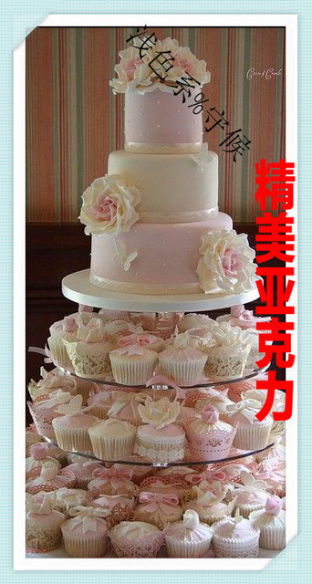 Factory direct sale 7 tier round removable acrylic frame wedding