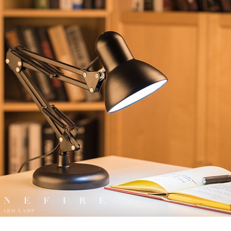 Flexible Desk Lamp Long Swing Arm Clamp Mount Lamp Office ...