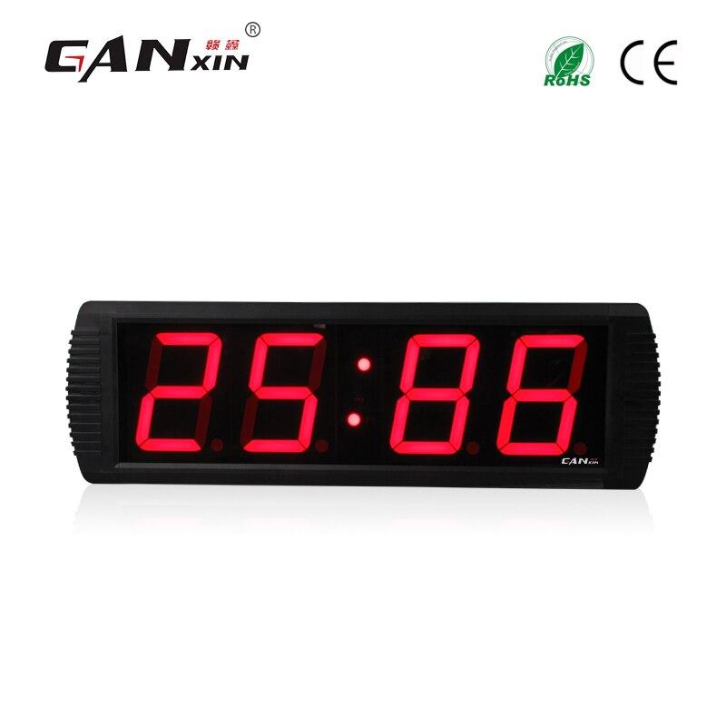 [Ganxin] 4 ''4 цифры 7 сегментный светодиодный дисплей отсчет электронные часы стены офиса Часы