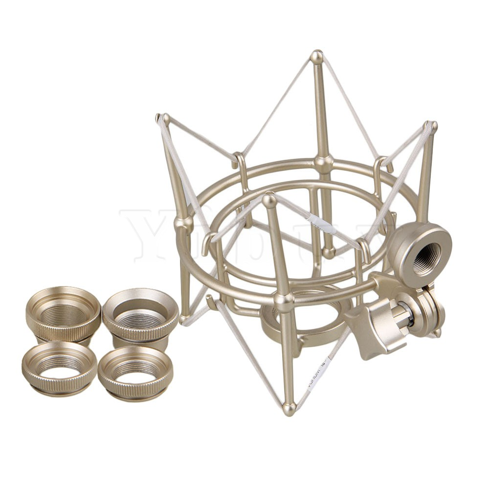 Yibuy Metal Cylinder Spider Shock Mount Stand For Newman U87 Microphone