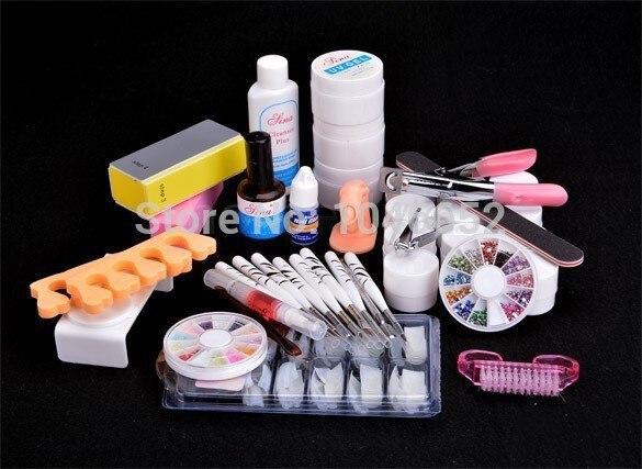 EM-91 FR S Nail Art Tool Volledige Set 12 Kleur UV Gel Kit Borstel - Nagel kunst - Foto 2