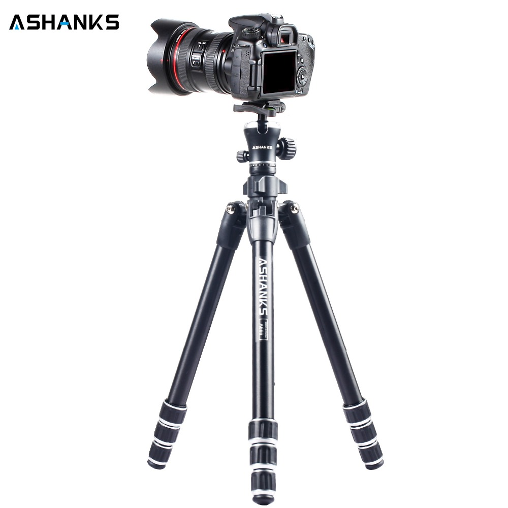 ASHANKS Professional Portable Travel Aluminum Camera Tripod with Ball Head for SLR DSLR Digital Camera for Photography with Bag pro q308 aluminum portable digital photography tripod with ball head