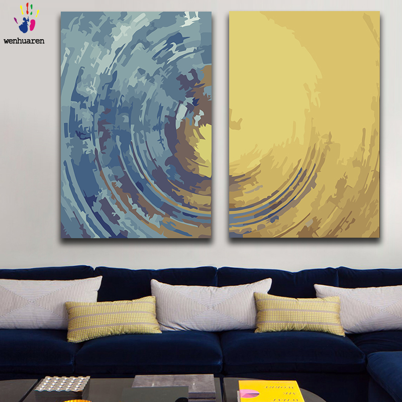 DIY painting pictures by numbers colorful Abstract Modern simplicity picture coloring by numbers framed Home for adult for hoom