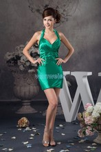 free shipping 2013 new hot seller zuhair design pleat women plus formal gown halter custom size/color short Bridesmaid Dresses