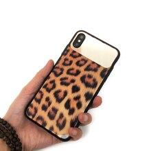 CKHB HD Женщины зеркало Леопард закаленное стекло задняя крышка чехол для iPhone X XR XS Max 8 7 плюс леди телефон задняя