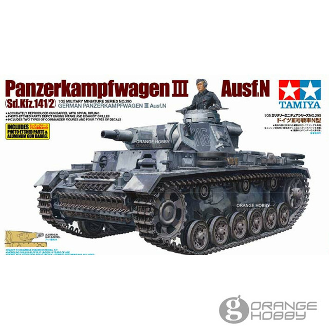 19826a969369 OHS Tamiya 35290 1 35 German PanzerKampfWagen III Ausf.N Sd.Kfz.141 2  Military Assembly AFV Model Building Kits G