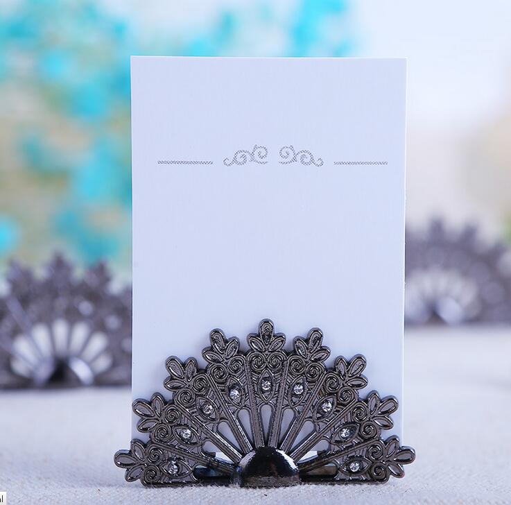 Party Diy Decorations 10pcs Vintage Fan Shape Name Number Table Place Card Holder For Wedding Party Anniversary Venue Decoration Home & Garden