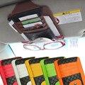 Acessórios Para automóveis PU Pacote Cartão Multifunções Bolso Pala de Sol Do Carro Óculos Titular Organizador Caneta De Armazenamento Saco Carro Pendurado