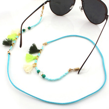 Bohemian Eyeglass Sunglasses Cord Strap Ropes New Fashion Beads Strand Necklace Beaded Glasses Chain
