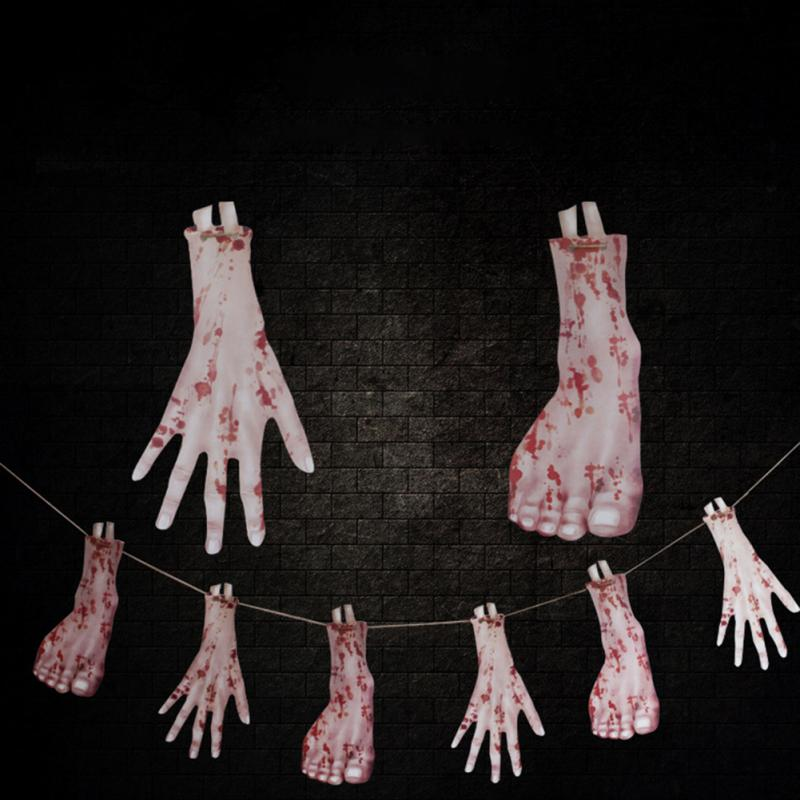 halloween party simulation prop decoration horrible scary props hanging halloween haunted house yard scary bar decor - Scary Props