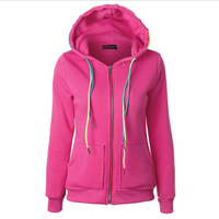 Autumn Fashion New Style Day College Wind Hoodies Loose And Thin Long Sleeved Sweatershirt Hoodies Colored Drawstring Zipper