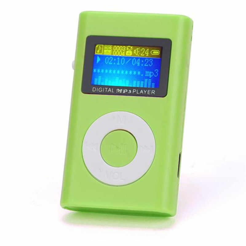 Mini reproductor de música USB HiFi reproductor de MP3 walkman reproductor mp3 estudiantes corriendo Lette pantalla LCD soporte 32GB tarjeta Micro SD TF
