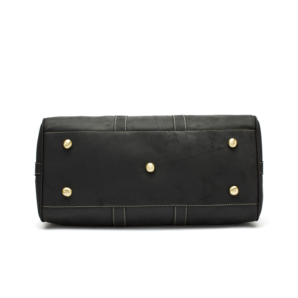 Hot Sale Genuine Leather Bag Fashion Top Layer Cow Leather Men Large Travel Bag Designer Simple Patchwork Black Hand Bag - 4