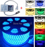 100M/Roll 5050 SMD Waterproof 60LEDs/M Warm Cool White Red Green Blue RGB Flexible LED Strip Light + 28 Key Remote Controller