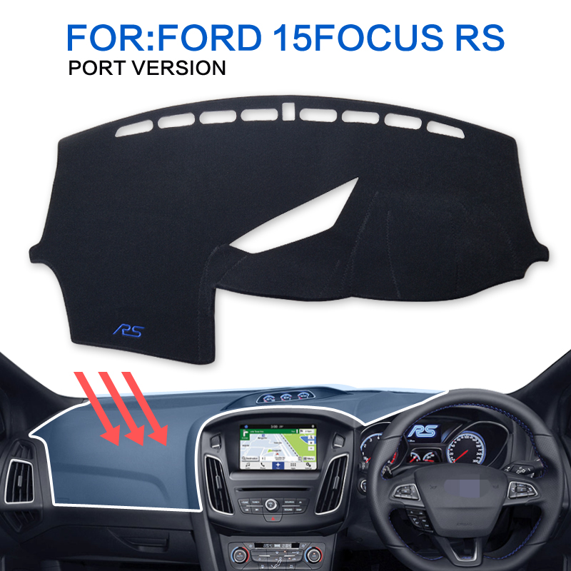 smabee Dash Mat Dashmat Black Carpet Cover For Ford Focus RS 2015-2016 Sunscreen insulation