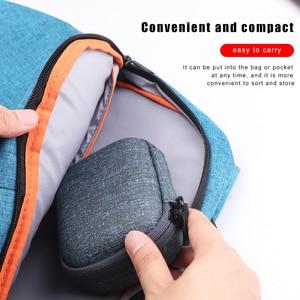 Image 4 - IKSNAIL EVA Hard Zipper Mini Earbuds Earphone Case For BlueBuds Leather Case In ear Bluetooth Earphone Bag Charger Organizer