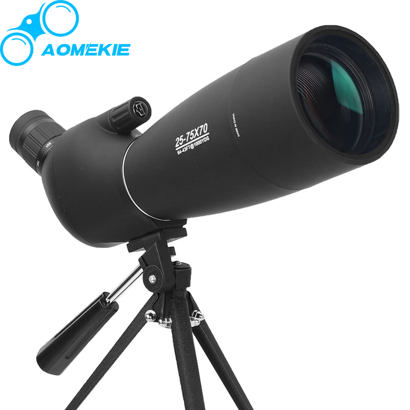 25-75X70 Увеличить Зрительная труба с штатив Long Range целевой стрельбы птицами Монокуляр телескоп HD оптический Стекло FMC объектива ...