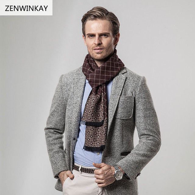 2017 Male Scarf Men Winter Scarf Pashmina Cashmere Shawl and Wraps Warm Wool Neck Scarves 180cm * 30cm 5 Colors