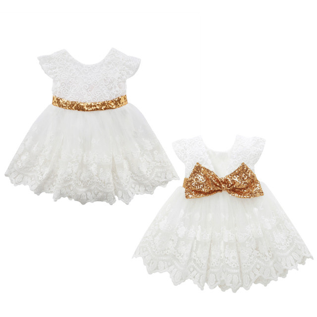 Cute Girl Princess Sequins Dress Toddler Baby Kids Back Big Bow Wedding  Party Tulle Ball Gown d1ef9f608cb1