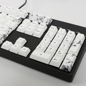Image 3 - Ink keycap  keycaps 5 Surfaces Dye sub Profile  104 Key ANIS Layout Augment For Standard Mechanical Keyboard Newly Arrival