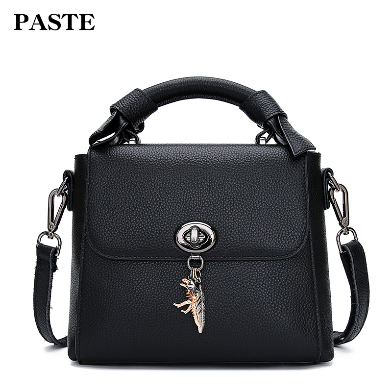 PASTE famous brand designer women vintage handbag tote bag genuine cow leather female new shoulder bag top quality messenger bag 2015 genuine leather women handbag new style shoulder bag famous brand lace women messenger bag fashion tote top handle bag