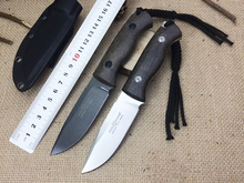 2 options!!! Fox Tactical Knives D2 Blade Flax Handle Camping Knife Outdoor Straight Knives EDC Tools Survival Hunting Tools