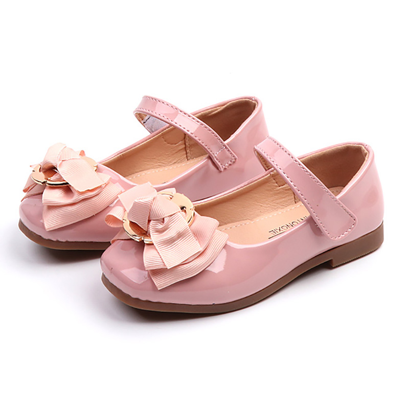 ULKNN Girls Princess shoes 2019 new version  big childrens wild shoes shallow mouth non-slip bow shoes wholesaleULKNN Girls Princess shoes 2019 new version  big childrens wild shoes shallow mouth non-slip bow shoes wholesale