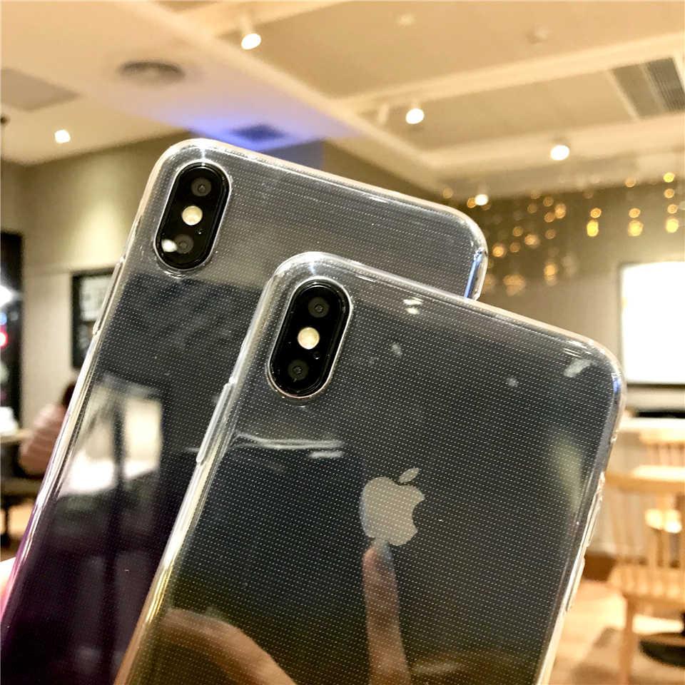 Dégradé arc-en-ciel TPU étui pour iphone XS MAX 6 s 7 8 Plus X XR couverture arrière XiaoMi RedMi 6A Note 6 Pro5 5A 4A 3 S 3 4X5 étuis