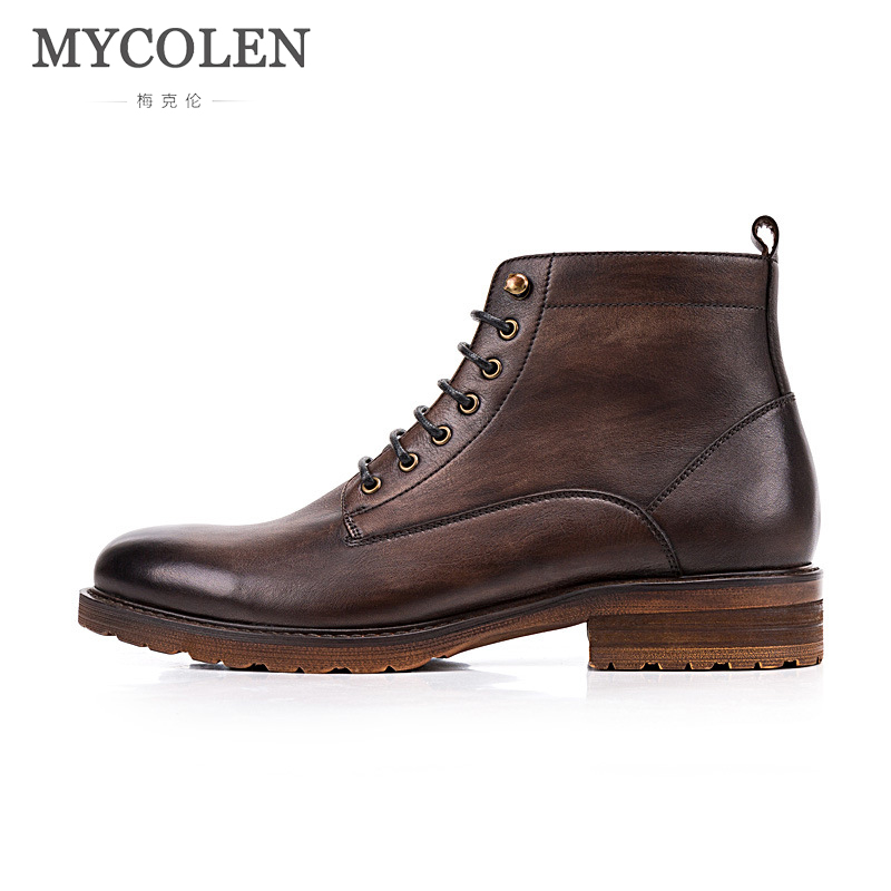 MYCOLEN Warm MenS Autumn Winter Leather Ankle Boots Luxury Fashion Men Waterproof Boots Leisure Fashion Boots Mens ShoesMYCOLEN Warm MenS Autumn Winter Leather Ankle Boots Luxury Fashion Men Waterproof Boots Leisure Fashion Boots Mens Shoes