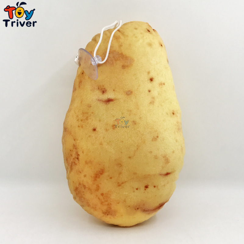 Simulation Potato Plush Toy Vegetable Pendant Stuffed Doll Baby Kids Children Birthday Gift Home Shop Restaurant Decor Crafts