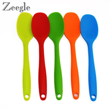 1 PCS Silicone Home Tableware Mixing Spoon Salad Cake Baking Utensil Putty Spatula Non-stick Backware Spoon Cooking Tools